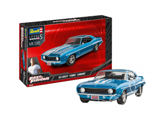 Revell maquette voiture 07694 Fast And Furious Dominics 1969 Chevy Camaro Yenko 1/25