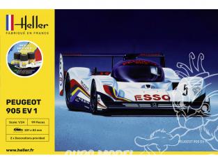 heller maquette voiture 56718 Peugeot 905 inclus peintures principale colle et pinceau 1/24