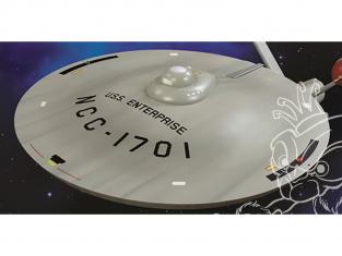 Polar Lights maquette MKA015 Accessoire Star Trek TOS Soucoupe lisse pour U.S.S. Enterprise 1/350