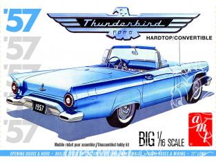 AMT maquette voiture 1206 Ford Thunderbird 1957 1/16