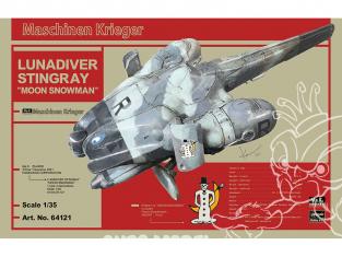 Hasegawa maquette 64121 Luna Diver Stingray «Moon Snowman» 1/35