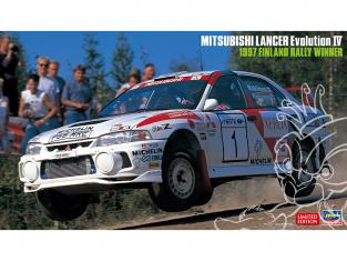 Hasegawa maquette voiture 20480 Mitsubishi Lancer Evolution IV «Vainqueur du rallye de Finlande 1997» 1/24