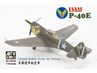 AFV maquette avion AR144S04 Curtiss P-40E USAAF 1/144