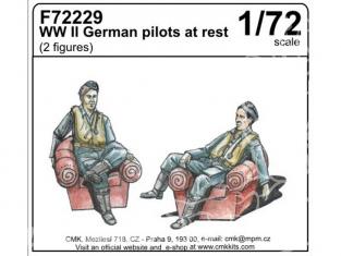 CMK figurine 72229 Pilotes Allemand au repos WWII 1/72