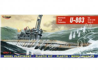 Mirage maquette Sous-marins 40044 U-803 type U-IX A Turm I Allemand 1/400