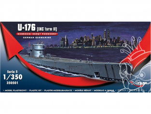 Mirage maquette Sous-marins 350501 U-176 (IXC TURN II)sous-marin allemand 1/350