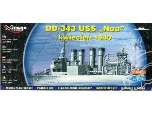 Mirage maquette Bateau 40604 Destroyer DD-343 USS 'NOA' Juin 1937 1/400