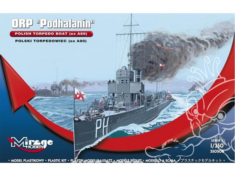 Mirage maquette bateau 350506 Torpilleur polonais ORP Podhalanin (ex A80) 1/350