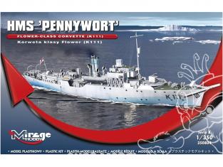 Mirage maquette bateau 350804 Corvette de classe Flower HMS PENNYWORT (K111) 1/350