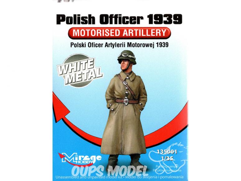 Mirage Kit Figuine 135001 Officier Polonais d' artillerie motorisée 1/35