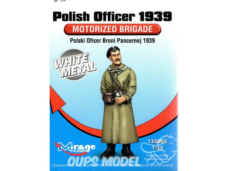 Mirage Kit Figuine 135005 Officier Polonais de blindées 1939 1/35