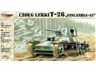 Mirage maquette militaire 72620 Char léger T-26 finlande 1945 1/72