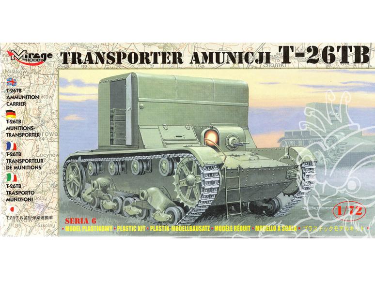 Mirage maquette militaire 72607 Transporteur de munitions T-26TB 1/72