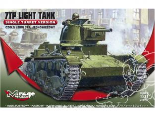 Mirage maquette militaire 355001 7TP Light Tank 'SINGLE tourelle' 1/35