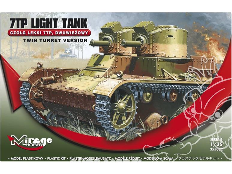Mirage maquette militaire 355002 7TP Light Tank 'DEUX-tourelles' 1/35