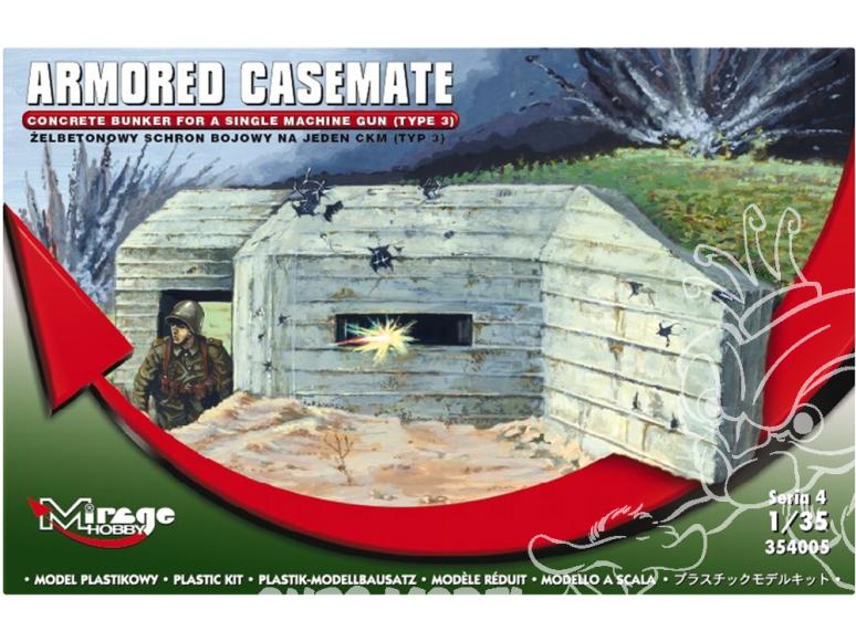 Mirage maquette militaire 354005 Casemate blindée type 3 1/35
