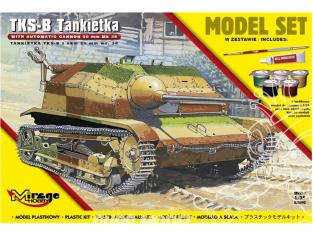 Mirage maquette militaire 835093 MODEL SET TKS-B Polska Tankietka z NKM 20 mm wz. 38 1/35