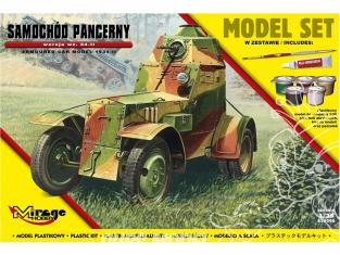 Mirage maquette militaire 835096 MODEL SET Voiture blindée Wz. 34-II 1/35