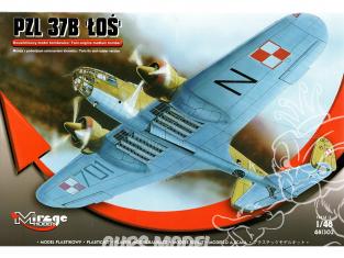 Mirage maquette avion 481302 Avion bombardier PZL-37B Łoś 1/48