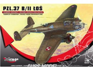 Mirage maquette avion 481310 Avion bombardier PZL.37 B / II ŁOS, DEUXIÈME SÉRIE DE PRODUCTION 1/48