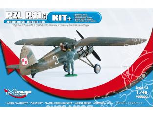 Mirage maquette avion 900002 KIT + avion de chasse PZL P-11c 1/48