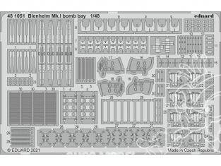 EDUARD photodecoupe avion 481051 Baie de bombe Blenheim Mk.I Airfix 1/48