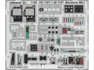 EDUARD photodecoupe avion 491187 Amélioration Blenheim Mk.I Airfix 1/48
