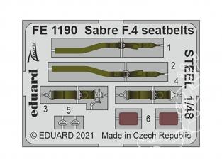 EDUARD photodecoupe avion FE1190 Harnais métal Sabre F.4 Airfix 1/48