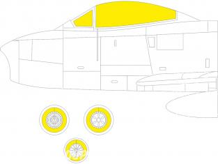 Eduard Express Mask EX784 Sabre F.4 TFace Airfix 1/48