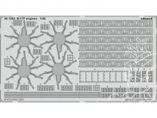 EDUARD photodecoupe avion 481052 Moteurs B-17F Hk Models 1/48