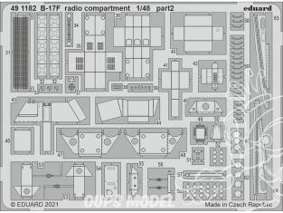 EDUARD photodecoupe avion 491182 Compartiment radio B-17F Hk Models 1/48