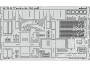 EDUARD photodecoupe avion 491183 Waist section B-17F Hk Models 1/48