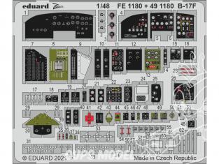 EDUARD photodecoupe avion FE1180 Zoom cockpit B-17F Hk Models 1/48