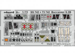 Eduard photodecoupe avion SS742 Zoom amélioration Buccaneer S.2B Airfix 1/72