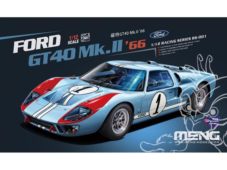 MENG RS-001 Ford GT40 Mk.II '66 (Édition pré-colorée) 1/12