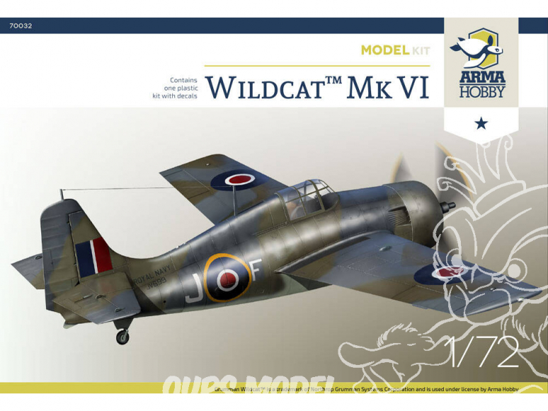 Arma Hobby maquette avion 70032 Wildcat™ Mk VI Model Kit! 1/72