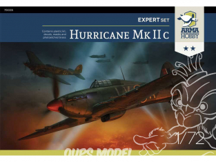 Arma Hobby maquette avion 70035 Hawker Hurricane Mk IIc Expert Set! 1/72