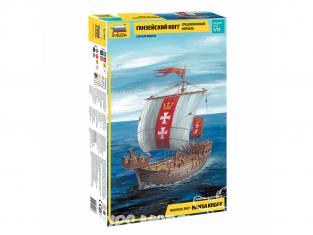 Zvezda maquette bateau 9018 Navire médiéval Hansa Kogge 1/72