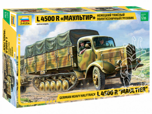 Zvezda maquette militaire 3603 Camion semi-chenillé lourd allemand L 4500R Maultier 1/35