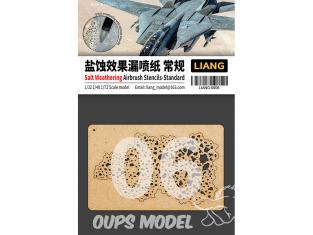 Liang Model 0006 Pochoir aérographe weathering sel Standard 1/35 - 1/48 - 1/72