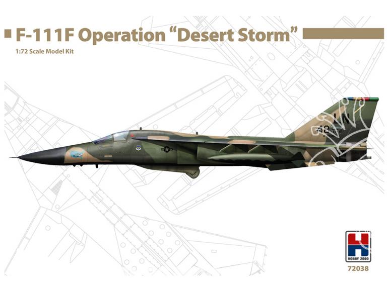 "Hobby 2000 maquette avion 72038 F-111F Operation ""Desert Storm"" 1/72"