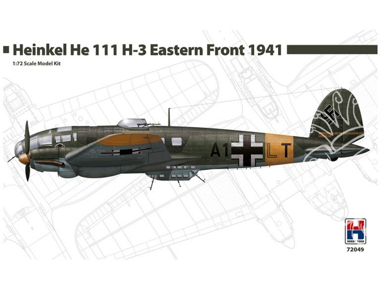 Hobby 2000 maquette avion 72049 Heinkel He 111 H-3 Front Est 1941 1/72