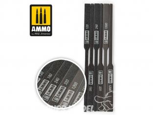 Mig accessoires 8567 Assortiment de Batons de ponçage 120 - 180 - 240 - 320 - 1200 - 1500