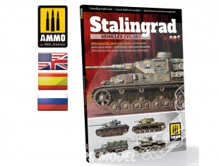 MIG Librairie 6146 Stalingrad - Couleurs véhicules Allemands et Soviétiques en Anglais - Espagnol - Russe