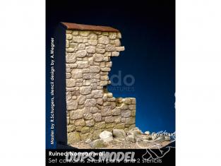 Rado miniatures RDM35B02 Mur Normand en ruine 1/35