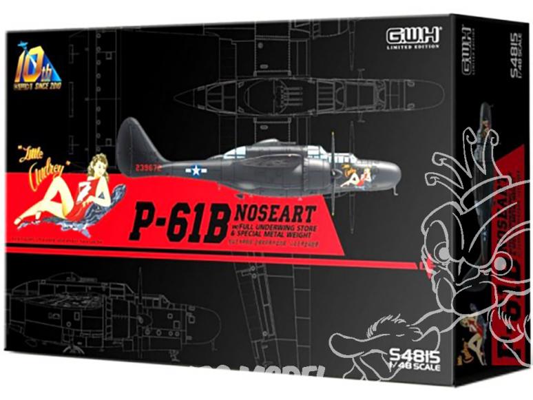 Great Wal Hobby maquette avion S4815 P-61B Noseart avec Armement et poids Edition limitée 1/48