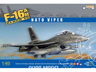 Kinetic maquette avion K48002 F-16AM Block 15 NATO Viper 1/48