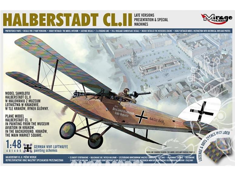 Mirage maquette avion 481405 Halberstadt CL.II late 1/72