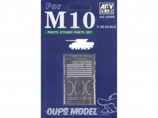 AFV CLUB maquette militaire AG35006 M10 EXTRA DETAIL SET PHOTODECOUPE (KIT DE CONVERSION) 1/35