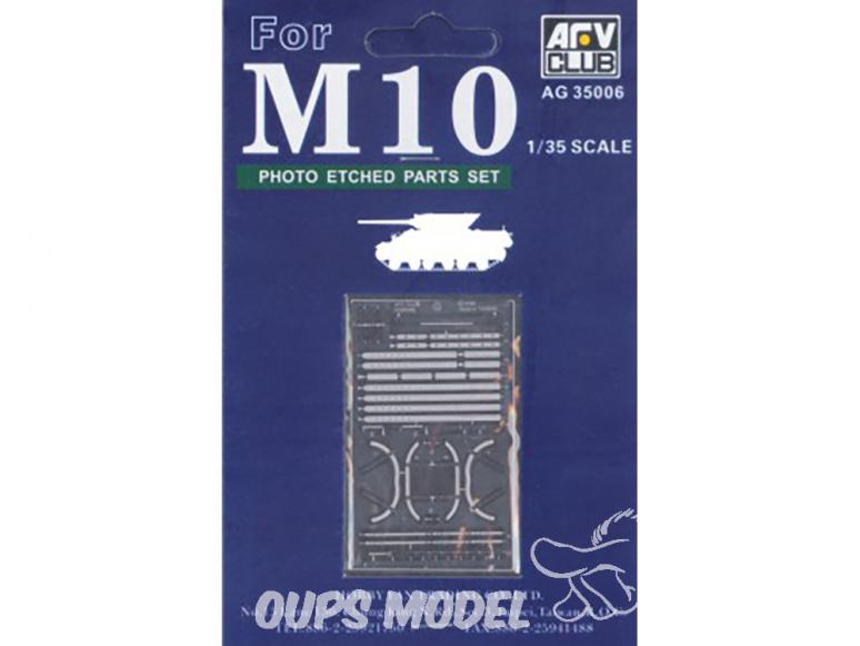 AFV CLUB maquette militaire AG35006 M10 EXTRA DETAIL SET PHOTO LAITON GRAVÉ (KIT DE CONVERSION) 1/35